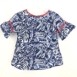 Nautica Shirts & Tops - Girl's Nautica Blue Patterned Top